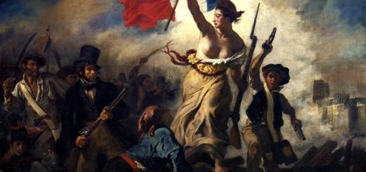 Eugène_Delacroix- La libertà sopra le barricate