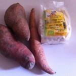 Ingredienti: batata e farina di mandorle bio.