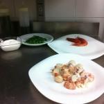Pesce e verdure per la zuppa batti batti