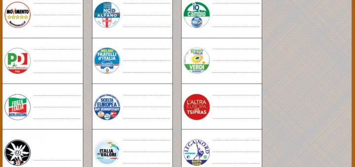 Fac-simile tessera elettorale europee