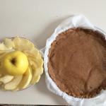 Aggiungere le fettine di mele.