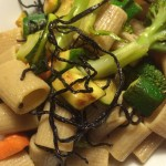 pasta-verdure-alga Hijiki