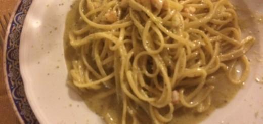 linguine pistacchio