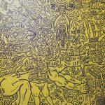 Keith Haring, Untitled, 1986 Olio e acrilico su tela 243,8 x 243,8 cm Collezione Emmanelle e Jérôme de Noirmont, Parigi Keith Haring © Keith Haring Foundation