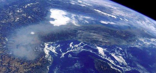 Foto scattata da Paolo Nespoli, in orbita attorno alla Terra che rende l'idea della situazione ambientale in cui si trova il Nord Italia.