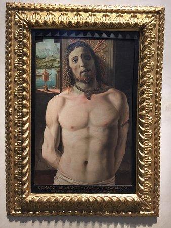 Donato Bramante, Cristo alla colonna, nella Pinacoteca di Brera.