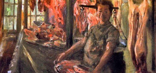 Lovis Corinth, La bottega del macellaio a Schäftlarn an der Isar (1897)