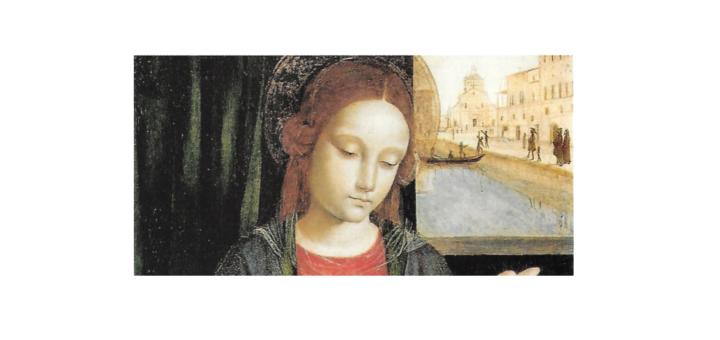 Ambrogio da Fossano detto Bergognone, 'Madonna con bambino', particolare della Certosa di Pavia sul Naviglio Pavese, al Museo Poldi Pezzoli di Milano.