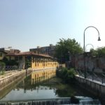 Cassina de'pomm dal ponte di Leonardo attraversato da Renzo