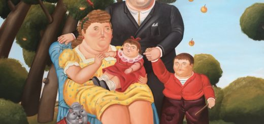Fernando Botero, Famiglia , olio su tela, 80×100 cm